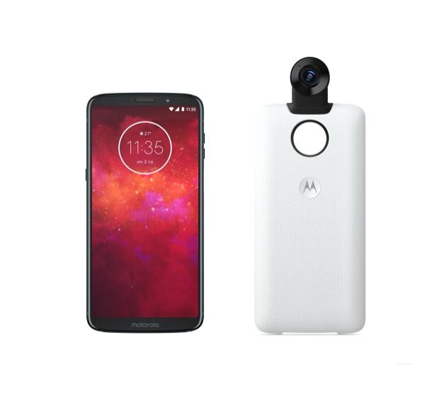 "Moto Z3 Play 6"" 64GB 4G LTE Unlocked Smartphone + Moto Z3 360 Camera"