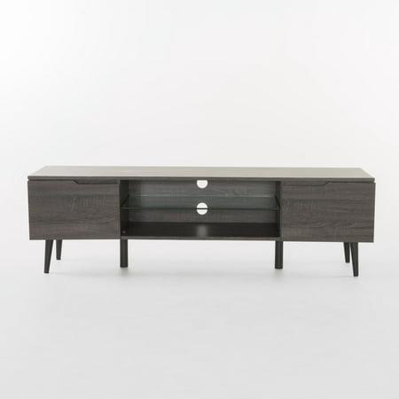 Aldrige Wood TV Stand, Grey Finish ()
