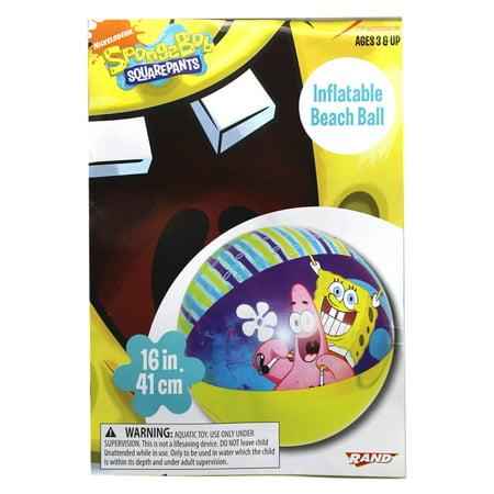 - Spongebob on Patrick's Shoulders Yellow/Blue Colored Kids Beach Ball
