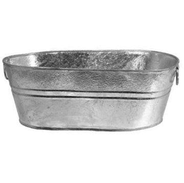 Oval Wash Tub - Galvanized, 2.25 Gallon - Walmart.com ...