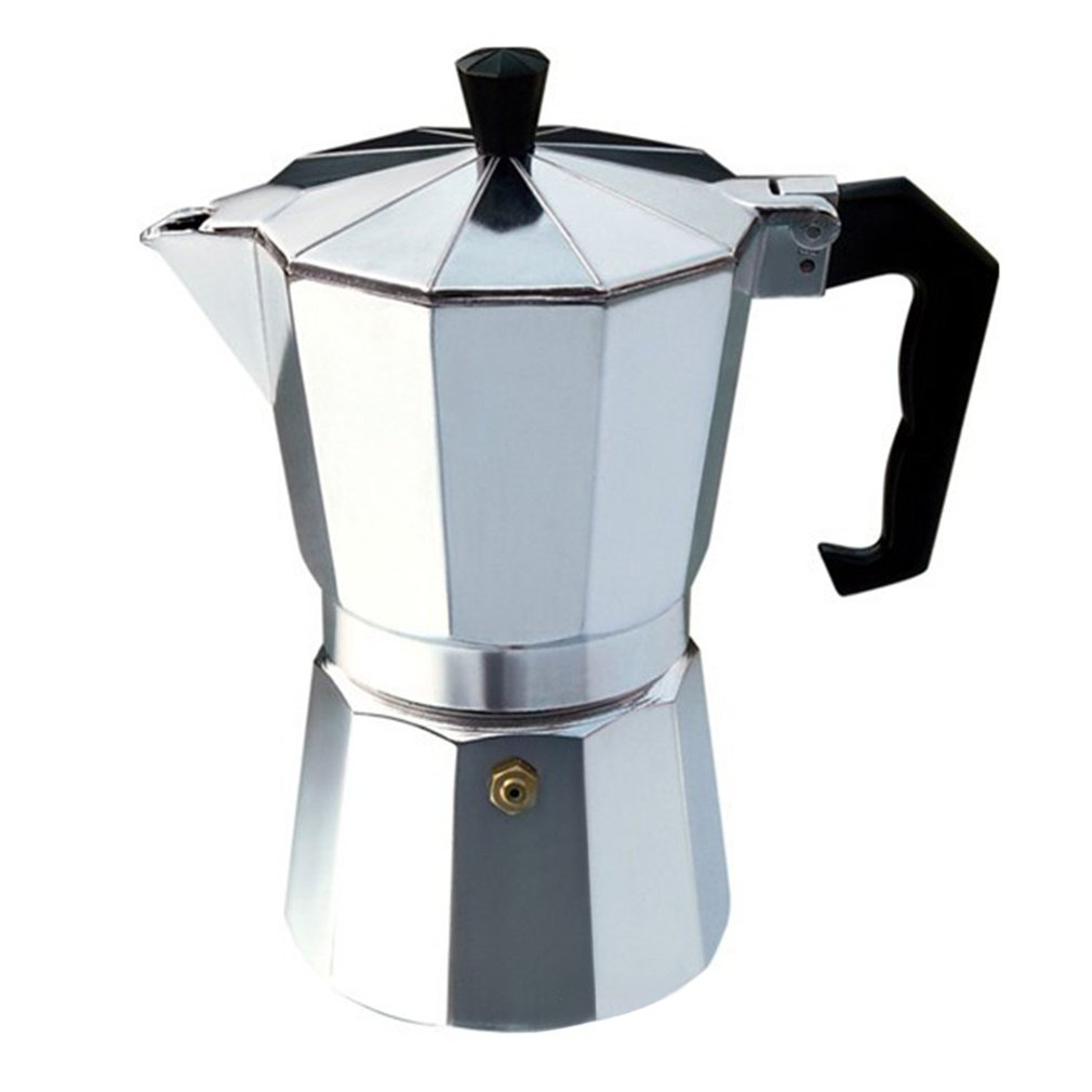 Aluminium Moka Pot Octangle Coffee Maker For Mocha Coffee Italian Coffee,Silver