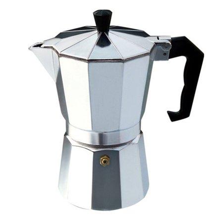 Aluminium Moka Pot Octangle Coffee Maker For Mocha Coffee Italian Coffee,Silver