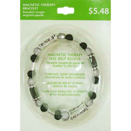 Everyday Essentials Magnetic Bead and Silver-Tone Bracelet, 6.25""
