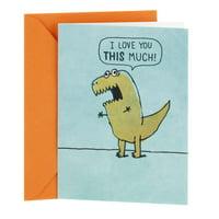 Hallmark Shoebox Funny Love or Sweetest Day Card (Dinosaur Arms)