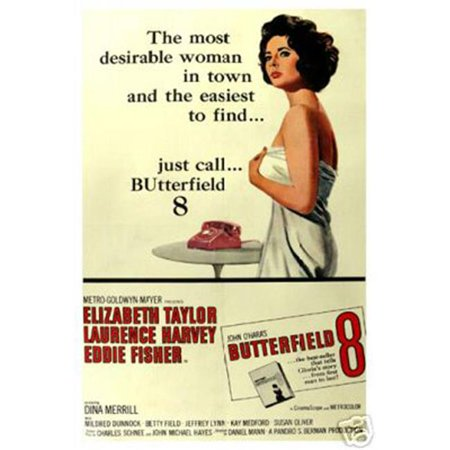 Hot Stuff Enterprise 3194-12X18-MV Butterfield Elizabeth Taylor Poster, 12 x 18 in. ()