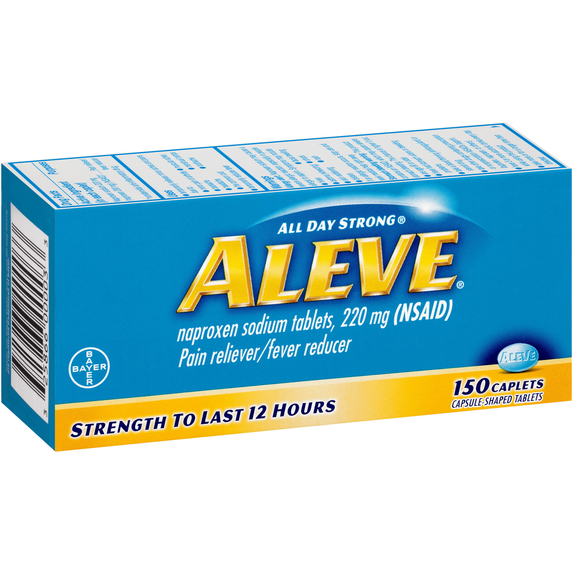Aleve Pain Reliever/Fever Reducer Naproxen Sodium Caplets, 220mg, 150 count