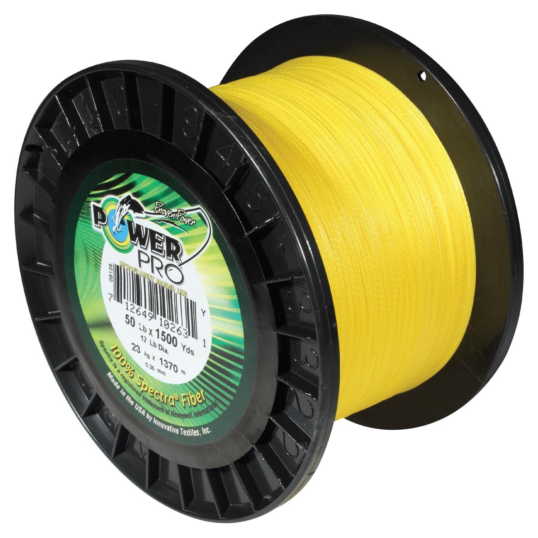 PowerPro Microline Fishing Line, Yellow, 1,500 yd by Generic