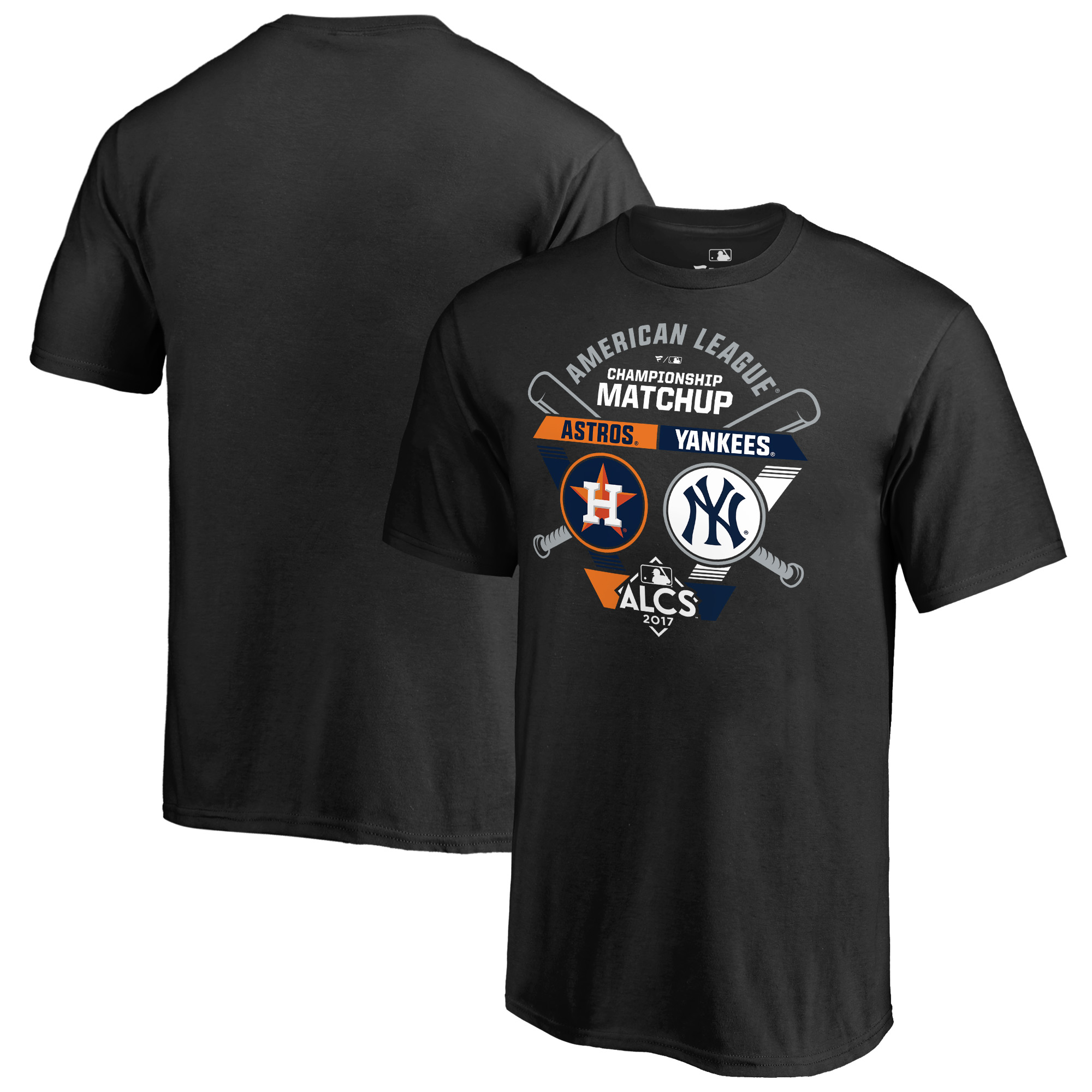 Houston Astros vs. New York Yankees Fanatics Branded Youth 2017 American League Championship Series Matchup Bases Loaded T-Shirt - Black