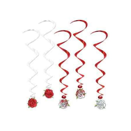 Alice In Wonderland Rose Whirls [Contains 3 Manufacturer Retail Unit(s) Per Walmart Combined Package Sales Unit] - SKU# 52121, THEME: Alice in Wonderland By Beistle - Alice In Wonderland Theme