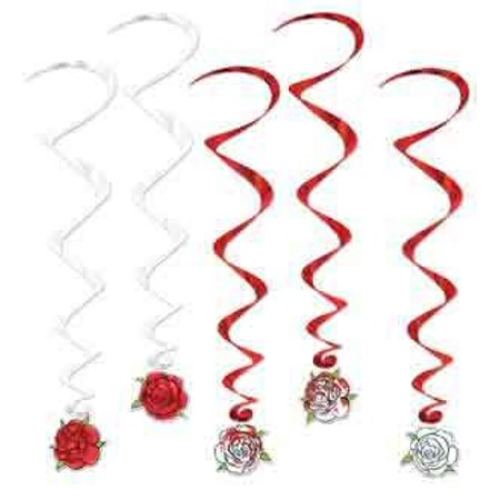 Alice In Wonderland Rose Whirls [Contains 3 Manufacturer Retail Unit(s) Per Walmart Combined Package Sales Unit] - SKU# 52121, THEME: Alice in Wonderland By Beistle