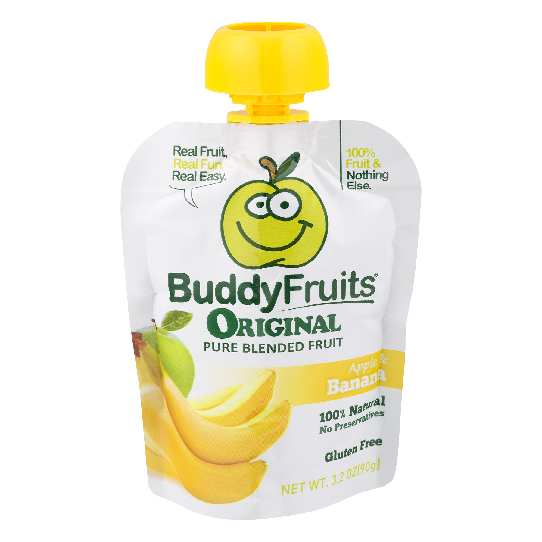 Ouhlala Gourmet Buddy Fruits Original Pure Blended Fruit, 3.2 oz