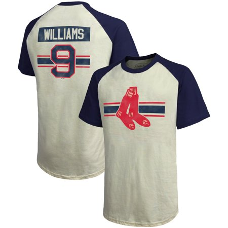 f8e812c31 Majestic Threads - Ted Williams Boston Red Sox Majestic Threads Cooperstown  Collection Hard Hit Player Name & Number Raglan T-Shirt - Cream/Navy -  Walmart. ...