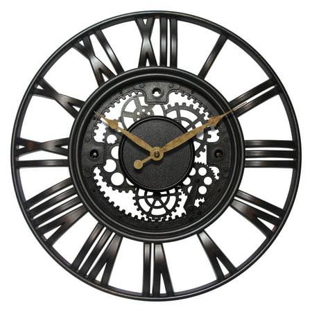 Infinity Instruments Roman Gear 15.5W x 15.5H in. Wall Clock ()