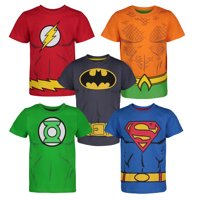 Justice League Toddler Boys' 5 Pack T-Shirts - Batman, Superman, The Flash, Green Lantern and Aquaman (3T)