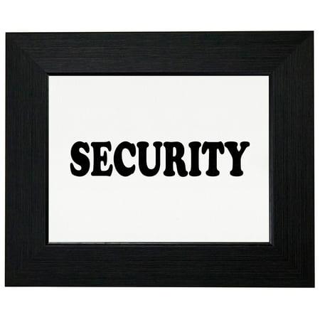 Security - Large Font Graphic Design Framed Print Poster Wall or Desk Mount Options Font Frames Embroidery Design