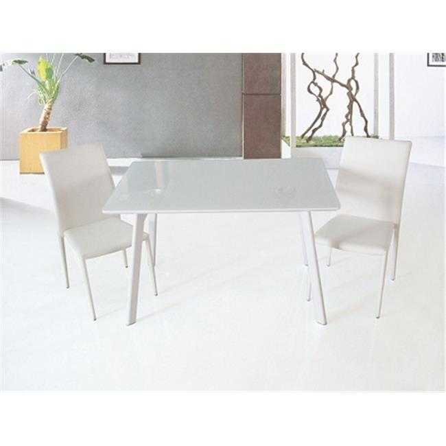 J & M Furniture 17780 B24 Dining Table - White High Gloss
