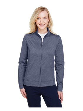UltraClub Ladies' Navigator Heather Performance Full-Zip - UC400W