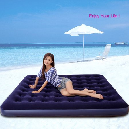 Moaere Camping Luxury Raised Air Sofa Mattress Inflatable High Airbed Blow up Bed Tent Pad Twin/Queen/King Size Bed Height 9