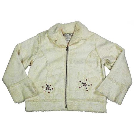- Widgeon By Saras Prints - Little Girls Faux Shearling Jacket Cream / 6