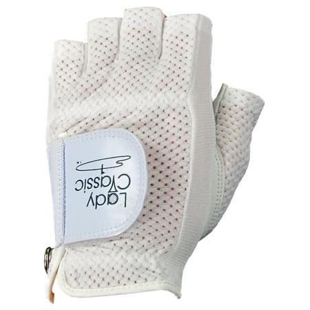Lady Classic Ladies Cabretta Golf Half-Gloves