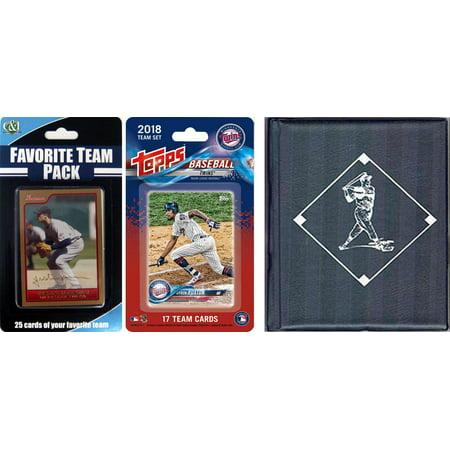MLB Minnesota Twins Licensed 2018 Topps® Team Set and Favorite Player Trading Cards Plus Storage Album