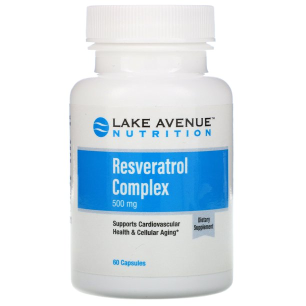 Lake Avenue Nutrition Resveratrol Complex 500 Mg 60 Capsules