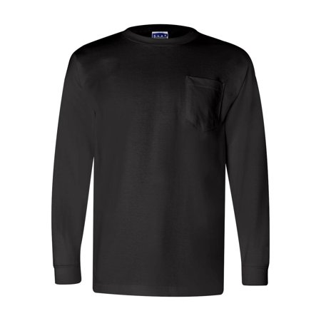 3055 Bayside T-Shirts - Long Sleeve Union-Made Long Sleeve T-Shirt with a Pocket