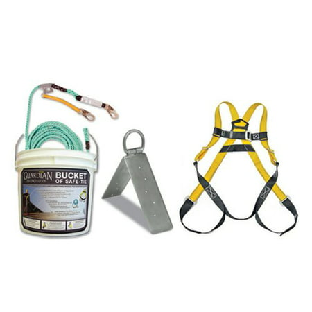 Guardian Fall Protection 00803 BOS-SP25 Bucket of Safe-Tie with 1 SP Anchor, ...