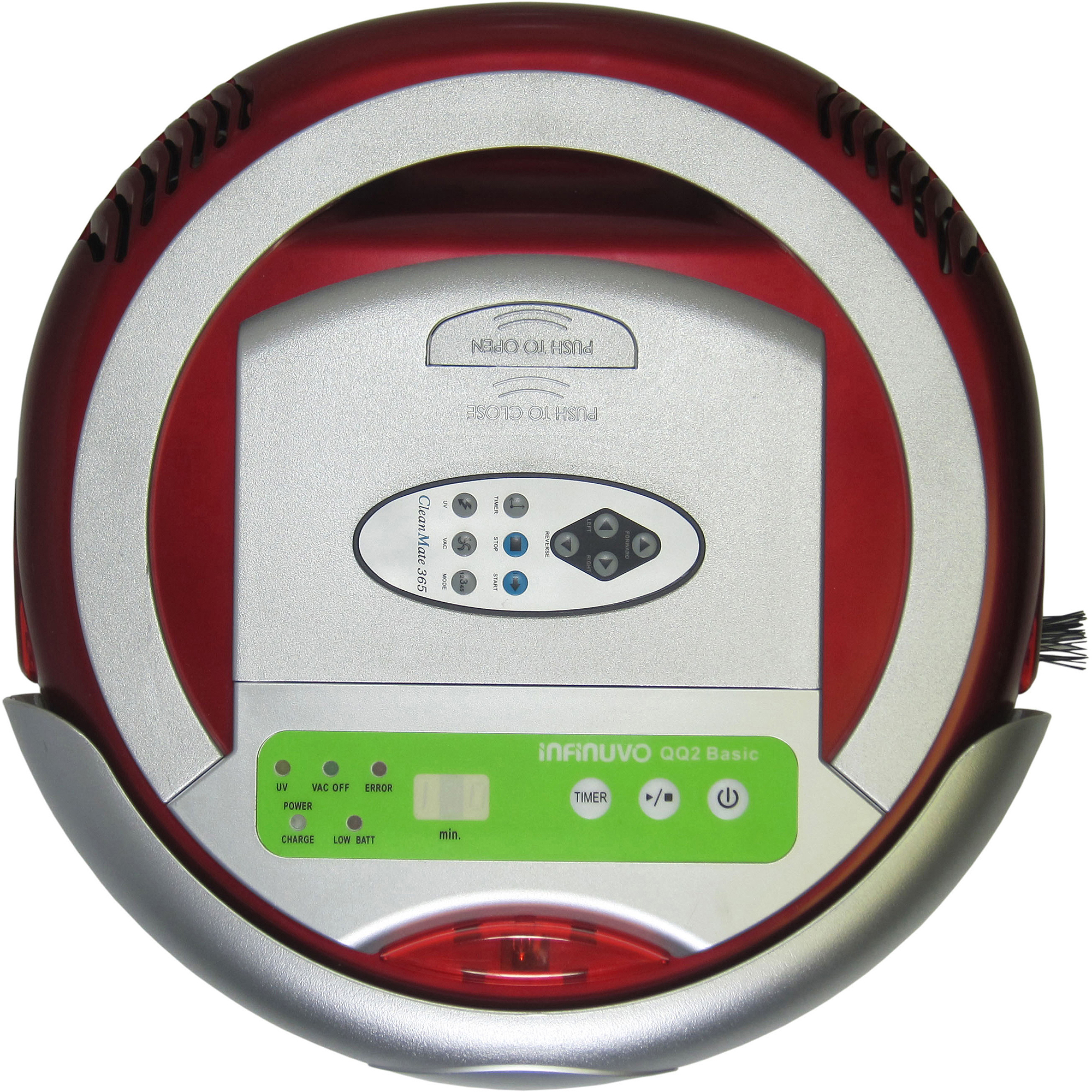 Metapo Infinuvo QQ-2 Basic Robotic Vacuum Cleaner, Red