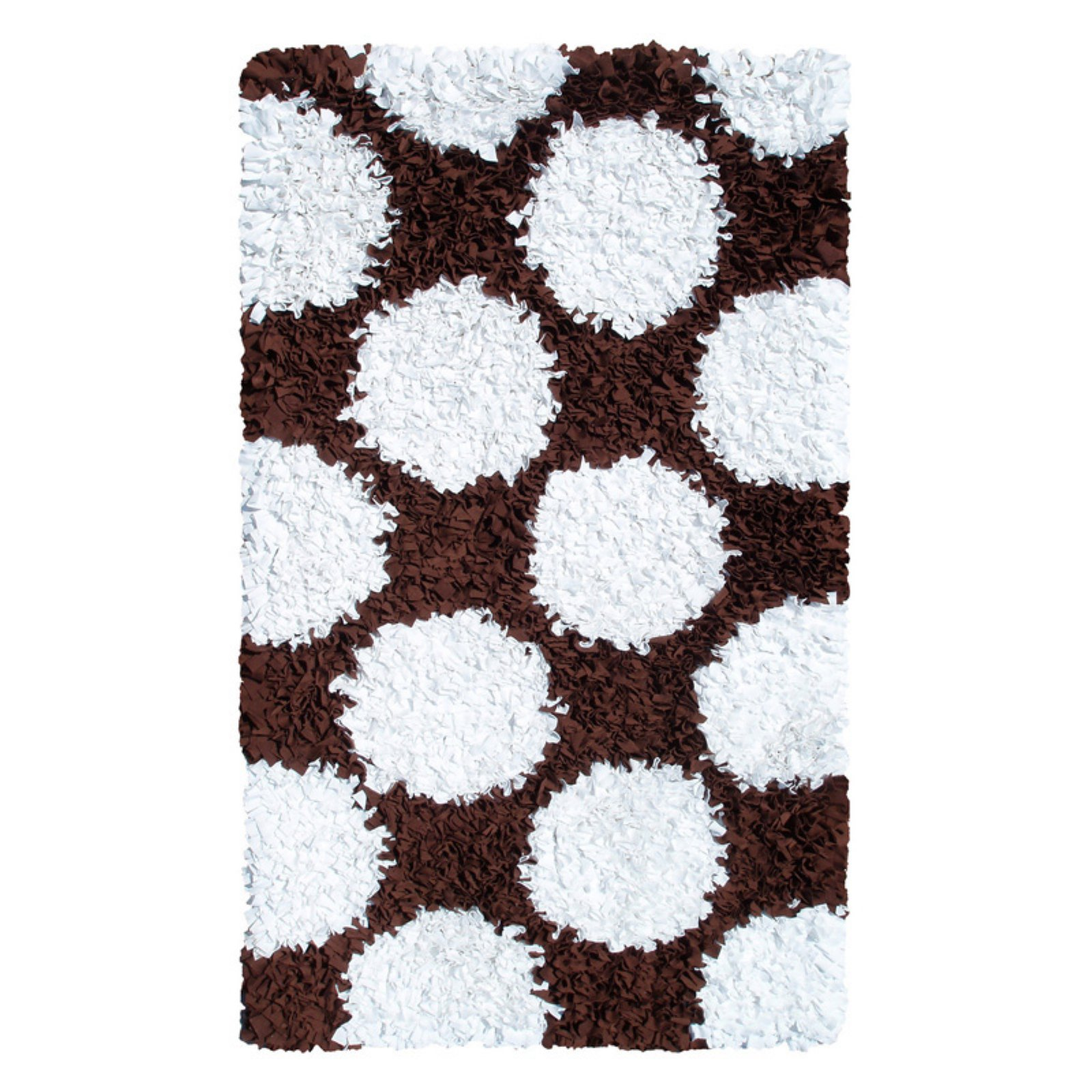 The Rug Market Polkamania Brown/White Area Rug, Size 4.7' x 7.7'