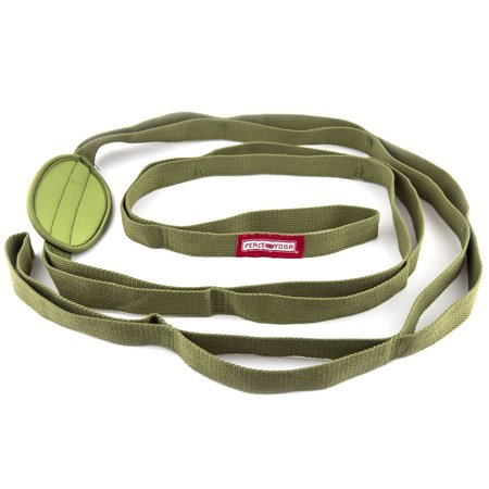 - Peace Yoga Durable Cotton Yoga Stretching Exercise Strap Band with Multiple Grip Loops