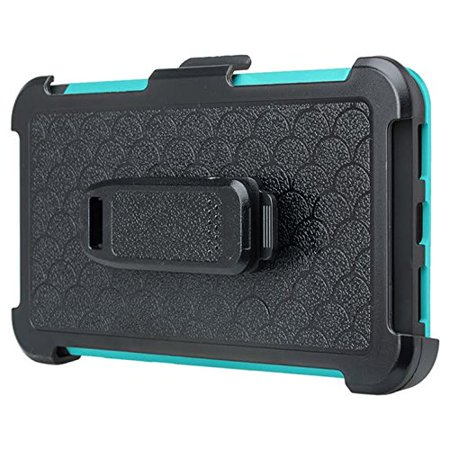 ZTE ZMAX One (Z719DL) Case ZTE Grand X4, ZTE Blade Spark Z971 Case [Military Strength Holster Combo] Heavy Duty Belt Clip Holster, Rugged Dual Layer Drop Protection for ZTE Grand X4/Blade Spark - Teal - image 2 de 4