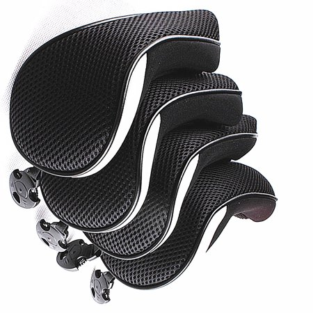 4PCS Thick Neoprene Hybrid Golf Club Head Cover Headcovers Gray