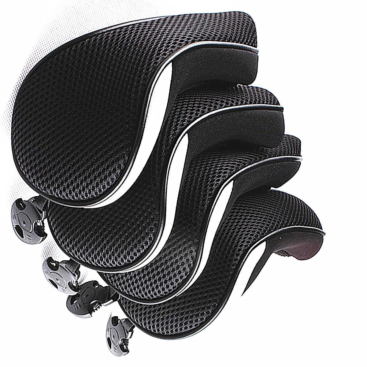 4PCS Thick Neoprene Hybrid Golf Club Head Cover Headcovers Gray