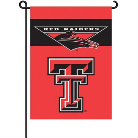Bsi Products 83027 2 Sided Garden Flag   Texas Tech Red Raiders
