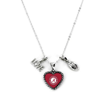 Alabama Crimson Tide Necklace Charmed Sport Love Football (Roll Tide Football)