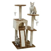 Go Pet Club 44 inch Cat Tree Condo with Hanging Toys