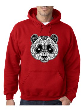 db39064a912a94 Product Image 790 - Hoodie Paisley Panda Bear Day Of The Dead Sweatshirt  Medium Red