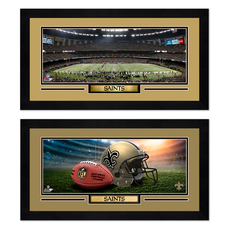 New Orleans Saints 7'' x 13'' Two Miniframe Bundle - No Size