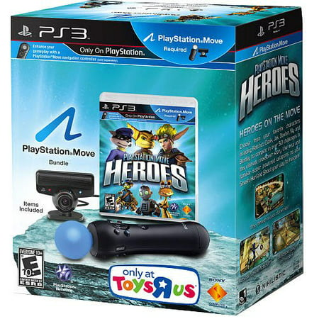 PS3 Playstation Move Heroes Bundle, Game, Motion Controller, and eye (2017 Zero To Hero Game Developer Bundle)