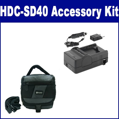 Panasonic HDC-SD40 Camcorder Accessory Kit includes: SDM-1529 Charger, SDC-27 Case