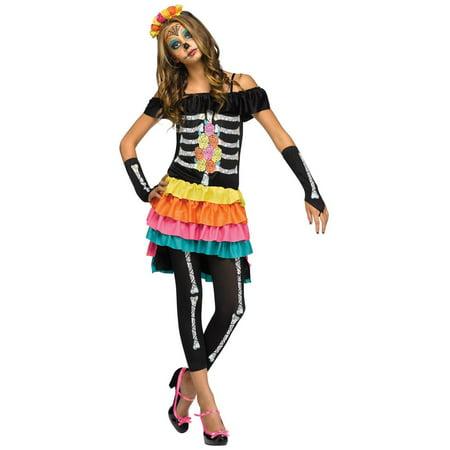 Dia de los Muertos Teen Costume - Dia De Muertos Costume