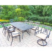 Oakland Living Corporation Dining Set with Rectangle Table, 6 Chairs, 2 Swivel Rockers, cushions