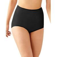 Bali Womens Skimp Skamp Brief Panty - Best-Seller, 6, Black Stripe, 6