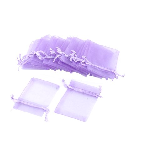 Drawstring Design Candy Jewelry Pouch Organza Gift Bag 25 Pcs](70s Candy)