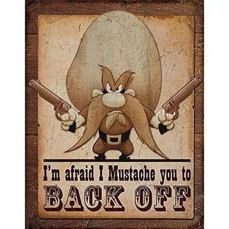 Yosemite Sam - Back Off Distressed Retro Vintage Tin Sign 13 x 16in by Desperate Enterprises