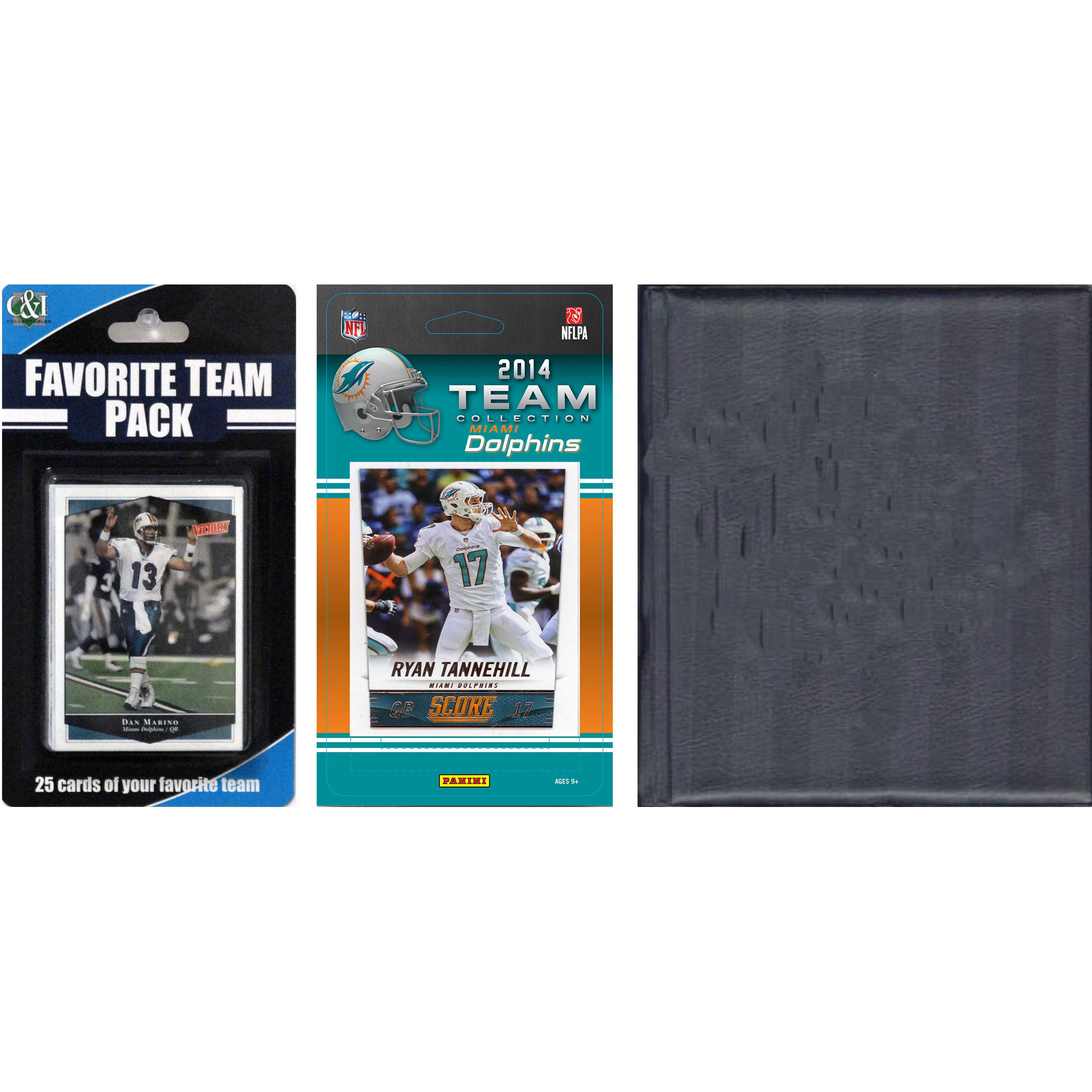 C&I Collectables NFL Miami Dolphins Licensed 2014 Score Team Set and Favorite Player Trading Card Pack Plus Storage Album
