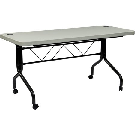 Work smart 5 39 resin multi purpose flip table with locking for Table locks acquired immediately 99