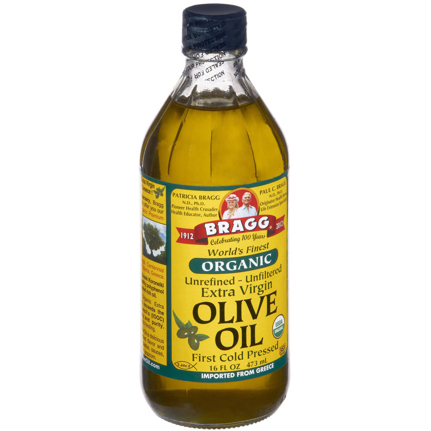Bragg Olive Oil, Extra Virgin, Organic, 16 FL OZ (Pack of 12)