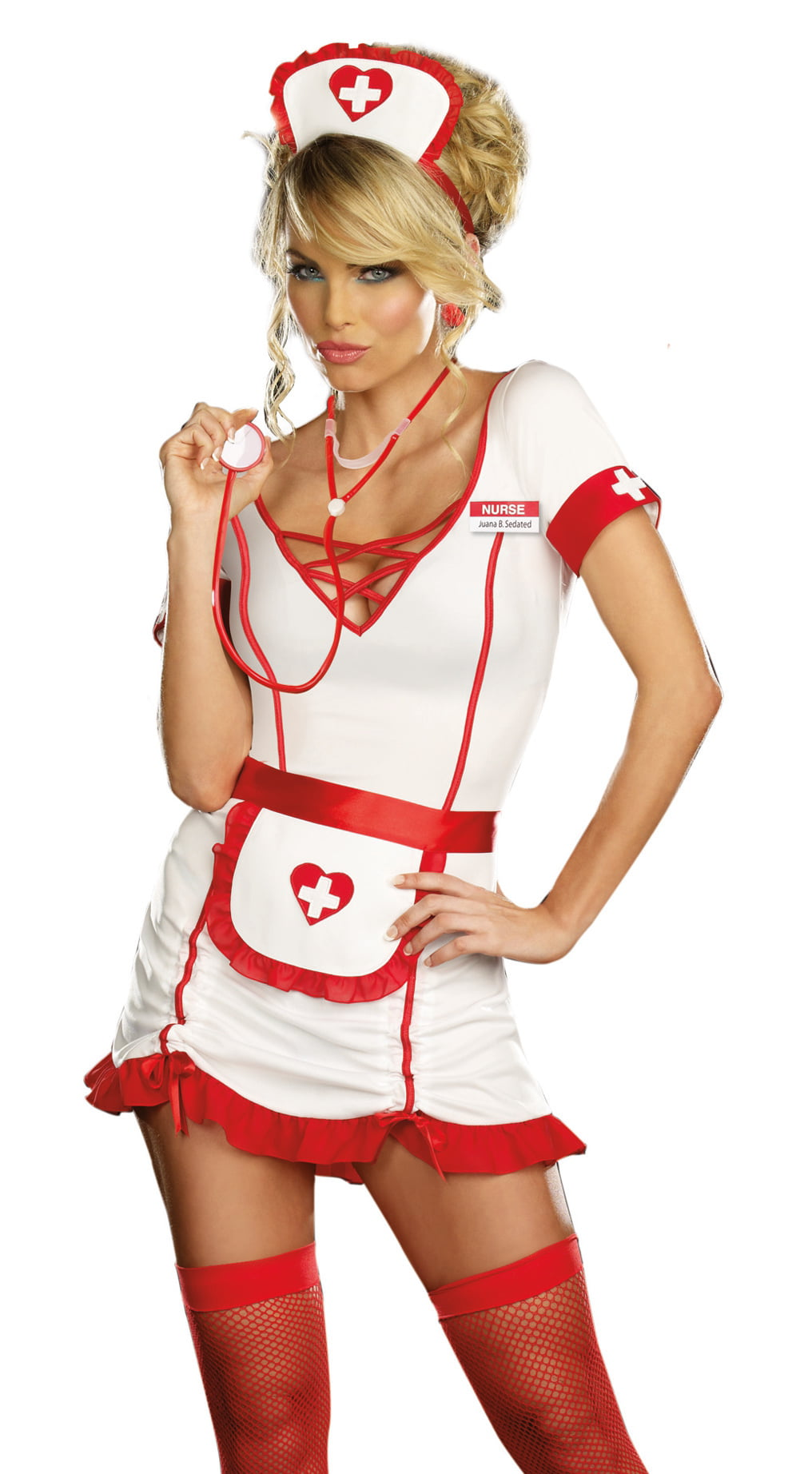 Dreamgirl Sexy Naughty Nurse Uniform Adult Halloween Costume Large - Walmartcom-7030